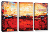 Jolina Anthony's Abstract Warm  3 Piece Gallery-Wrapped Canvas Set