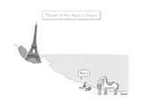 Planet of the Apes in French -- the Eiffel Tower replaces the Statue of Li… - New Yorker Cartoon