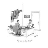 """He was my first client"" - New Yorker Cartoon"