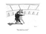 """You had me at olé"" - New Yorker Cartoon"