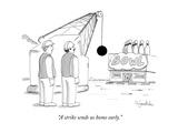 """A strike sends us home early"" - New Yorker Cartoon"