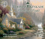 Thomas Kinkade Painter of Light with Scripture Day-to-Day - 2016 Boxed Calendar