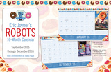 Eric Joyner Robots  - 2016 16 Month Desk Blotter