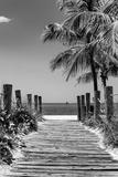 Boardwalk on the Beach - Key West - Florida Papier Photo par Philippe Hugonnard