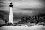 Key Biscayne Light House during a Tropical Storm - Miami - Florida