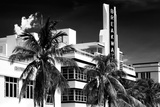 Art Deco Architecture of Miami Beach - The Esplendor Hotel Breakwater South Beach - Ocean Drive Reproduction d'art par Philippe Hugonnard