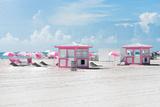 Pink Beach Houses - Miami Beach - Florida