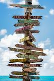 Destination Signs - Key West - Florida Papier Photo par Philippe Hugonnard