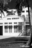 Art Deco Architecture of Ocean Drive - 14th Street Sign - Miami Beach - Florida