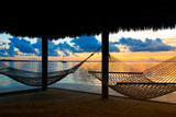 Two Hammocks at Sunset - View of Gulf of Mexico - Florida - USA