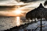 Private Beach at Sunset Papier Photo par Philippe Hugonnard