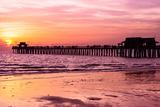 Naples Florida Pier at Sunset Papier Photo par Philippe Hugonnard