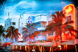 Instants of Series - Colorful Ocean Drive - South Beach - Miami Beach Art Deco Distric - Florida