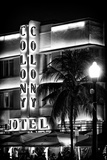 Ocean Drive with the Colony Hotel by Night - Miami Beach - Florida - USA