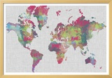 Impasto Map of the World