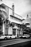 Art Deco Architecture with Yellow Cab - Miami Beach - Florida