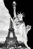 Dual Torn Posters Series - Paris - New York Papier Photo par Philippe Hugonnard
