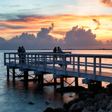 The Pier at Sunset Lovers