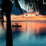 Sunset Landscape with Floating Platform - Florida