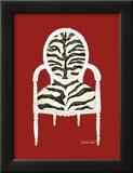 Zebra Chair on Red