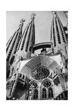 Sagrada Familia in Barcelona  1934