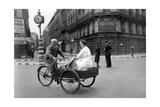 Carrier Bicyclist in Paris  1940