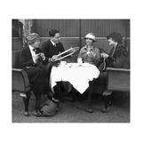 Gäste des Grand Hotels Esplanade beim 5-Uhr-Tee  1921