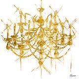 Gold Chandelier (gold foil)