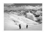 Skifahrer bei Arosa