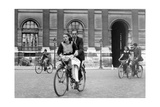 Bicylists in Paris  1940