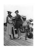 Beachwear in Deauville in France  1935