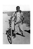 Zulu with a Bicycle in South Africa  1938