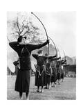 Archeresses Compete in London  1938