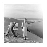 Maler auf einer Sanddüne  1939