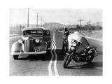 Zickzack-Markierung auf amerikanischen Autobahnen  1936