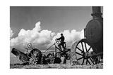 Dampfpflug in der Pontinischen Ebene (Agro Pontino)  1930er Jahre