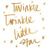 Twinkle Twinkle (gold foil)