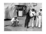 Matrosen mit exotischen Tieren  1934