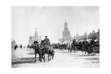 Roter Platz und Basilius-Kathedrale in Moskau  1905