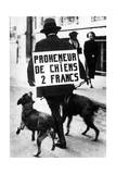 Dog Walker During Great Recession in France  1935