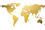 Gold World Map (gold foil)