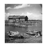 Fischerboote in Karelien  1930er Jahre