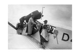 Maintenance and Cleaning of a Lufthansa Airplane  1926