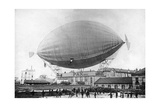 """Moored Balloon """"Pax"""" with M Severo before the Disaster in Paris  1902"""