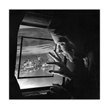 A Stewardess Looking Through an Airplane Window  1938