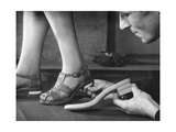 Adjusting a Pair of Sandals at a Shoe Factoy in Berlin  1940