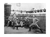 Fencing Officers in Spain  1910