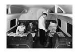 """Raucherabteil an Bord der """"Condor"""" der Lufthansa  1937"""