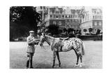 Earl Arnim Muskau in Front of Castle Muskau  1926