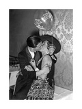 Kissing Couple at the 'Reimannball' in Berlin  1929